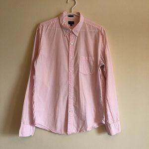 J. Crew | Men's Pink Gingham Slim Fit Shirt
